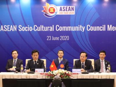Bộ trưởng Đào Ngọc Dung, Phó Chủ tịch Ủy ban Quốc gia ASEAN 2020, Chủ tịch ASCC 2020 chủ trì Hội nghị.